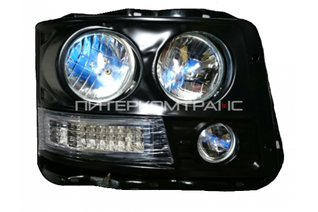 Фара передняя F3000 правая (корпус метал, светодиоды)